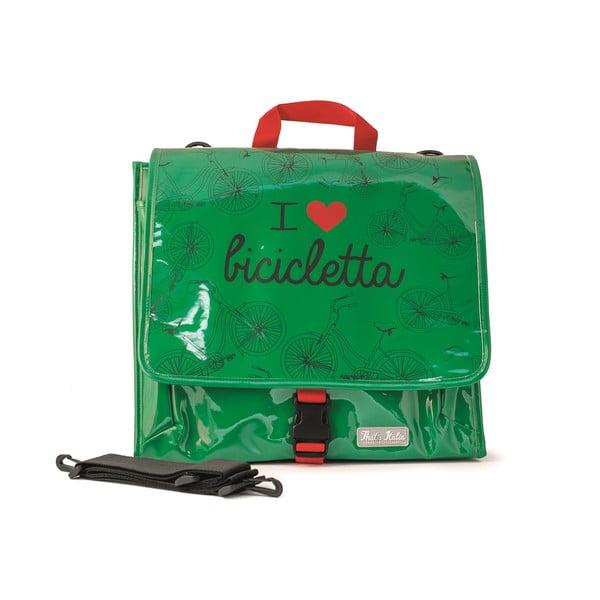 Messenger taška na bicykel I ♥ Bicicleta, zelená