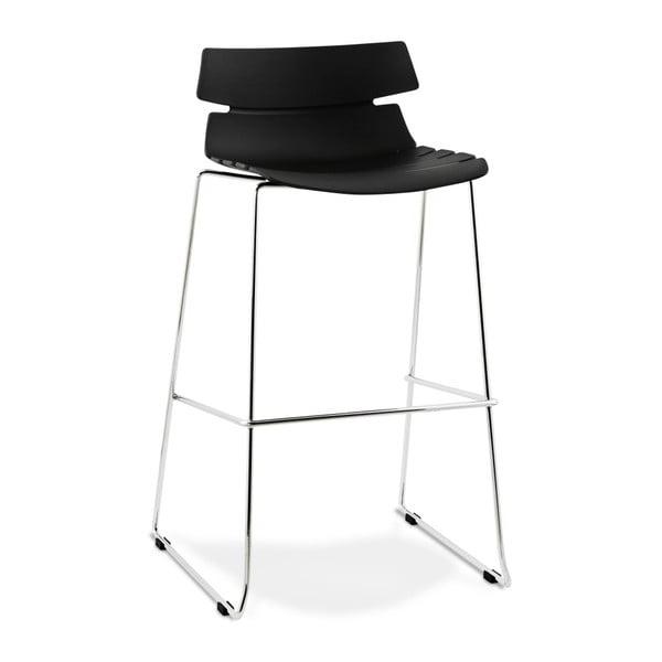 Čierna barová stolička Kokoon Reny, výška 77 cm