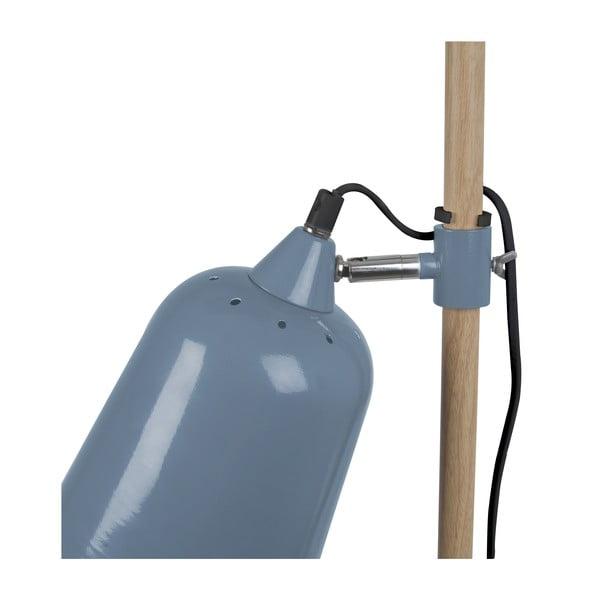 Modrá stolová lampa Leitmotiv Wood
