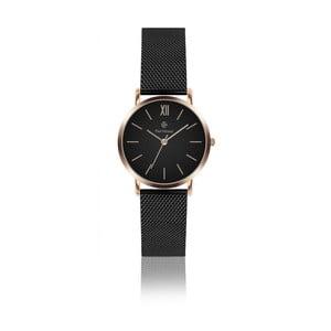Dámske hodinky s čiernym remienkom z antikoro ocele Paul McNeal, ⌀3,6cm