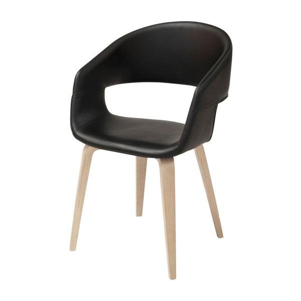 Čierna jedálenská stolička Interstil Nova Nature Duro