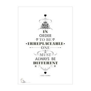 Plagát Coco Chanel, 30x40 cm