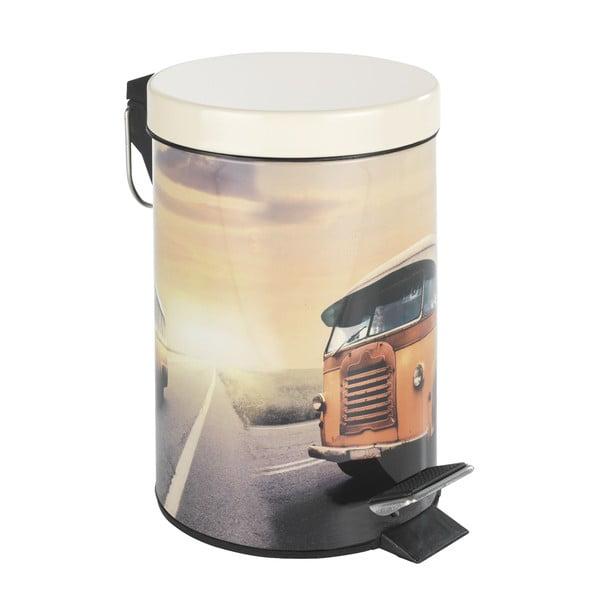 Pedálový retro odpadkový kôš Bus, 3 l