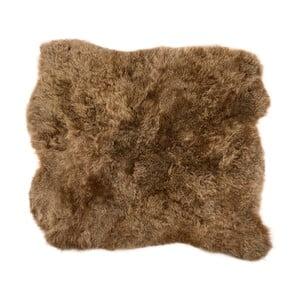 Hnedý kožušinový koberec s krátkým vlasom Busta, 90 x 80 cm