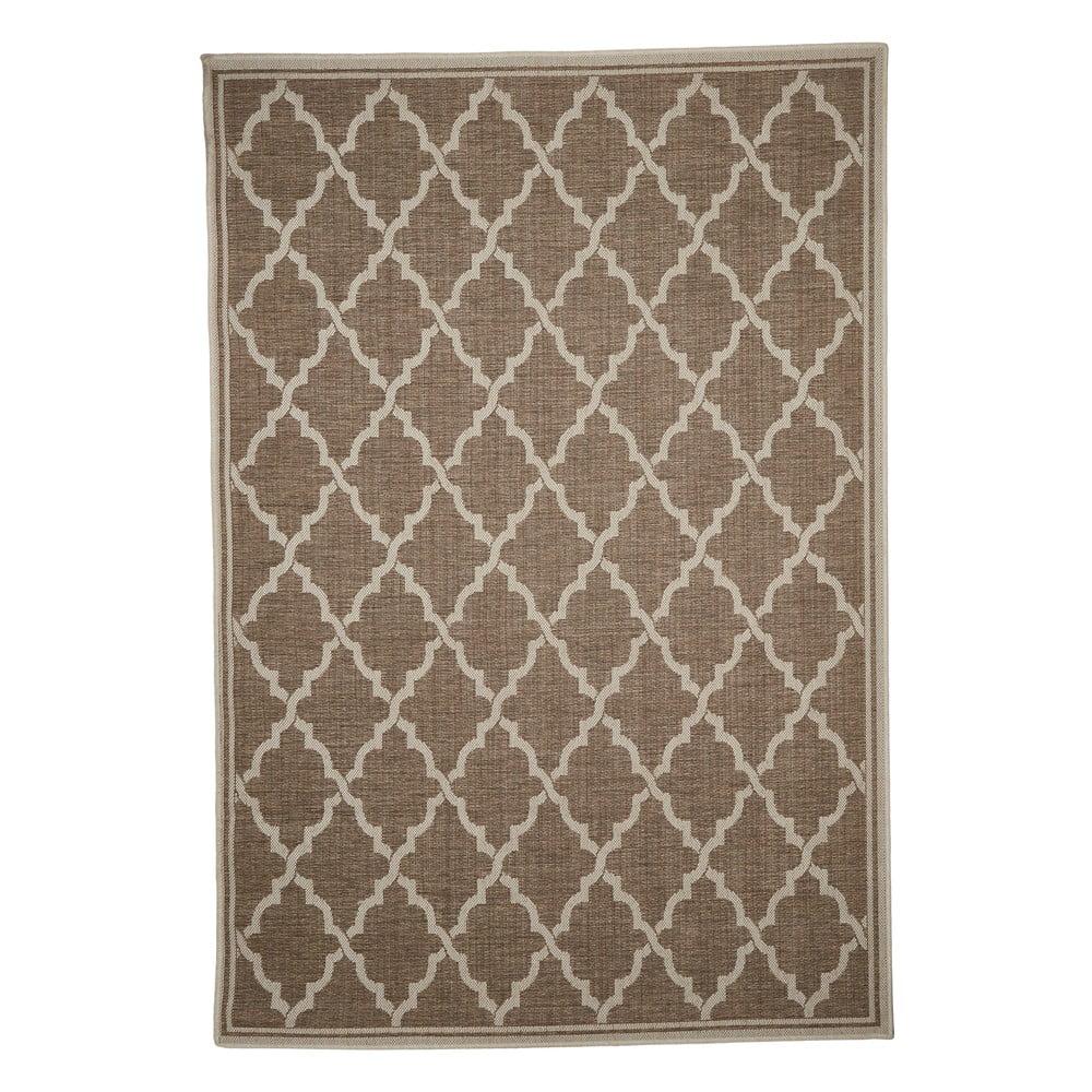 Hnedý vonkajší koberec Floorita Intreccio Natural, 135 x 190 cm