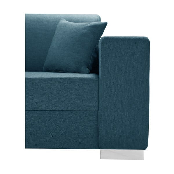 Tyrkysovomodrá sedačka Interieur De Famille Paris Perle, ľavý roh
