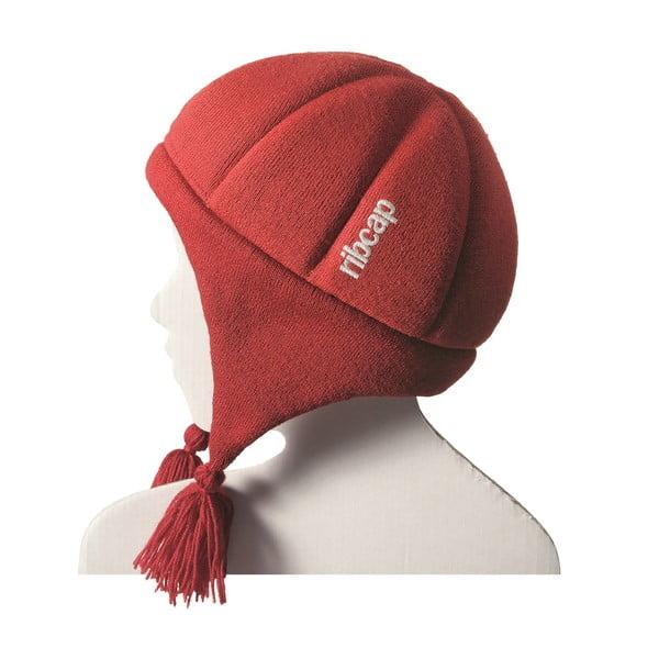 Detská červená čapica s ochrannými prvkami Ribcap Chessy, veľ. S