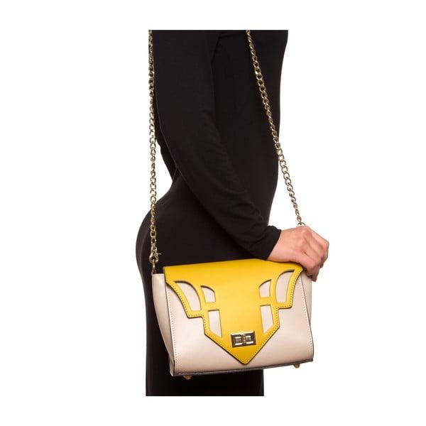 Kožená kabelka Luisa Vannini 3036, žltá