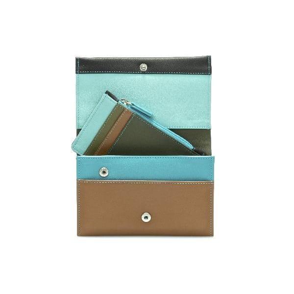 Peňaženka a obal na kreditné karty Brown/Blue