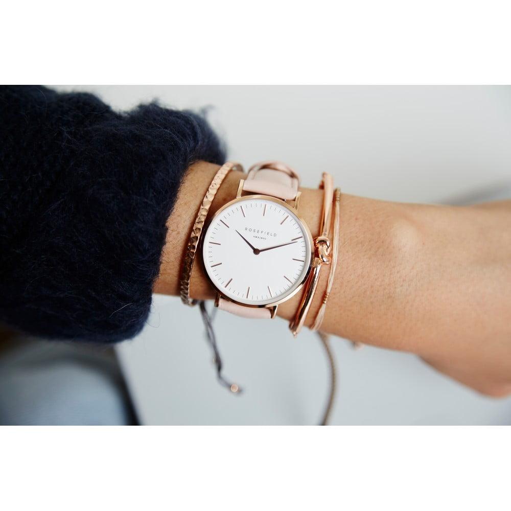 7af12f278 Bielo-ružové dámske hodinky Rosefield The Bowery | Bonami