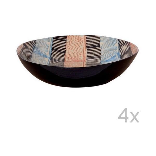Set hlbokých tanierov Samburu, 21,5 cm (4 ks)