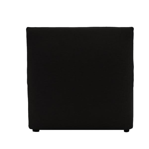 Tmavohnedé kreslo na predĺženie pohovky VIVONITA Cube