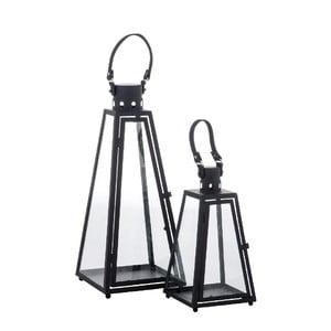 Set 2 lampášov Pyramid Black
