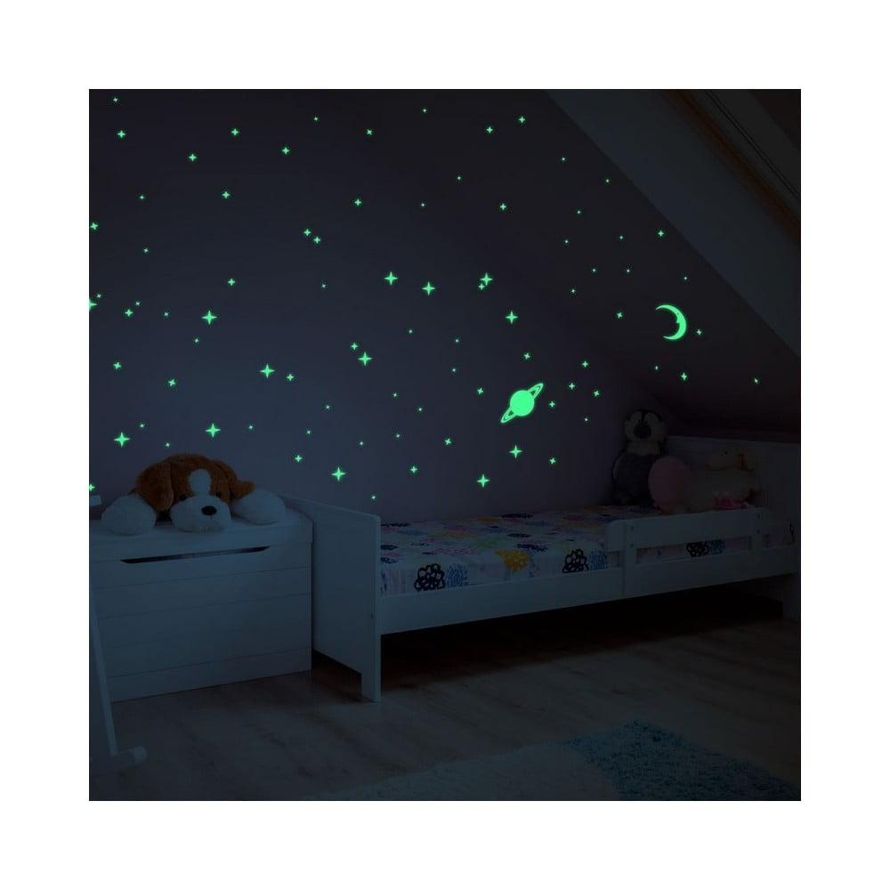 Svietiace samolepky na stenu Ambiance Moon and Planets