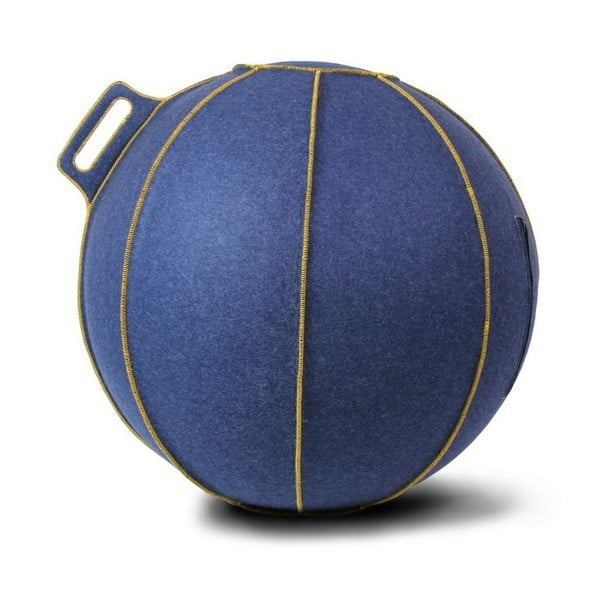 Modrá plstená lopta na sedenie VLUV, 65cm