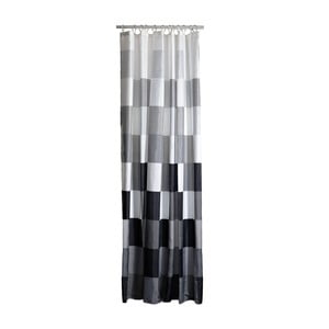 Sivo-biely sprchový záves Zone Confetti