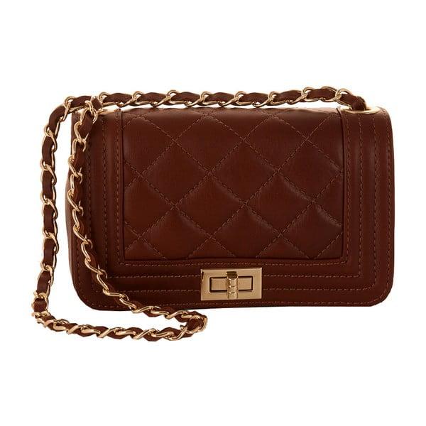 Hnedá kabelka z pravej kože Andrea Cardone Elena