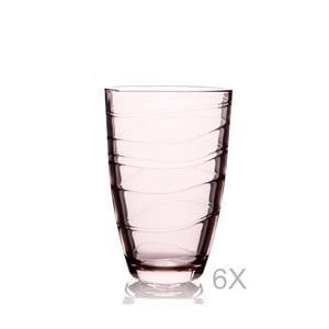 Sada 6 oranžových pohárov Pasabahce, 360 ml