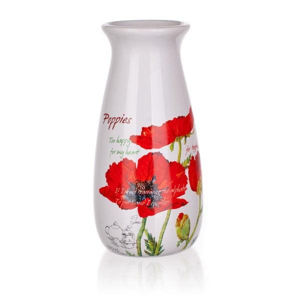 Keramická váza Banquet Red Poppy, 19 cm