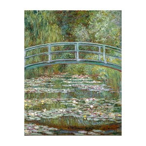 Obraz Claude Monet - Bridge Over a Pond of Water Lilies, 50x40 cm