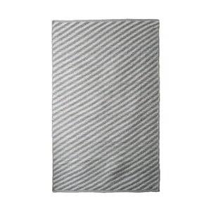 Sivo-béžový bavlnený ručne tkaný koberec Pipsa Diagonal, 140×200 cm