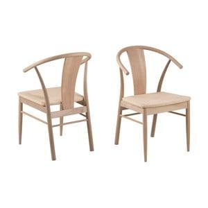 Čierna jedálenská stolička z dubového dreva Interstil Janik Oiled