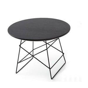 Čierny odkladací stôl Innovation Grid,70cm