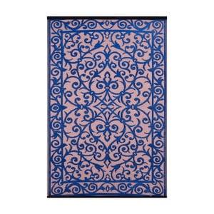 Modro-ružový obojstranný vonkajší koberec Green Decore Gala, 90x150cm