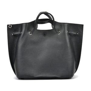 Čierna kožená kabelka Mangotti Clarissa Dura