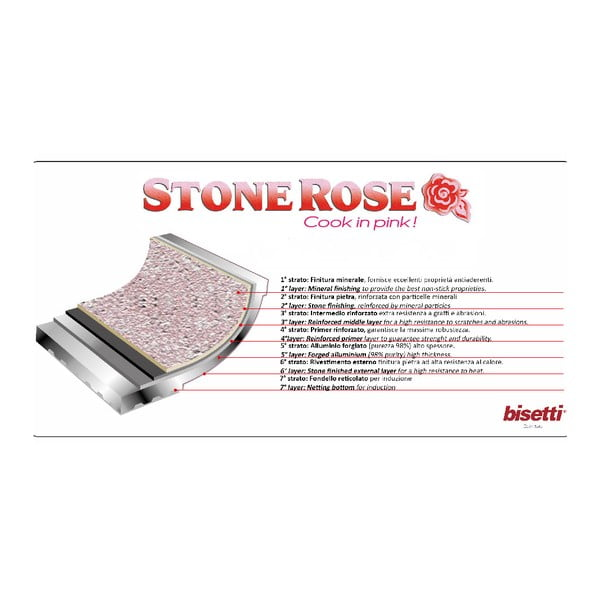6-dielny set riadu s pokrievkami Bisetti Stonerose Rose Giacomo