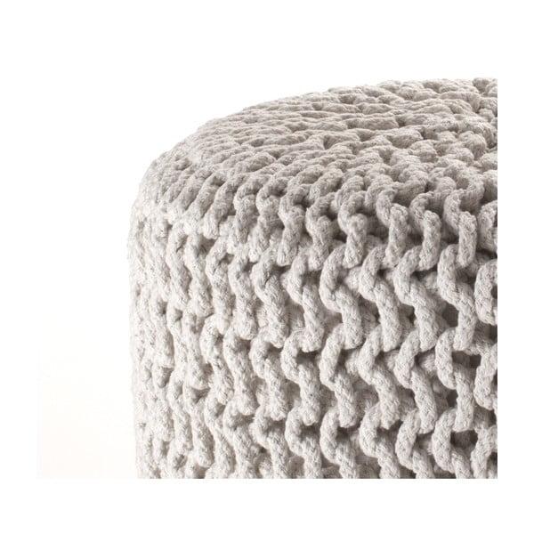 Krémový pletený puf Tomasucci Knit
