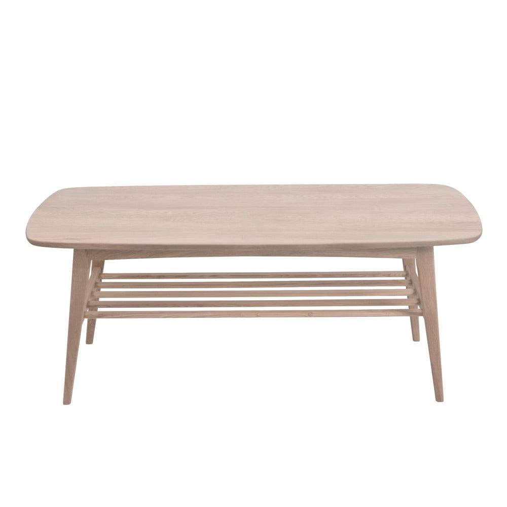 Konferenčný stolík s podnožím z dubového dreva Actona Woodstock, 120 x 60 cm