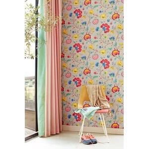 Tapeta Pip Studio Floral Fantasy, 0,52x10 m, svetlosivá
