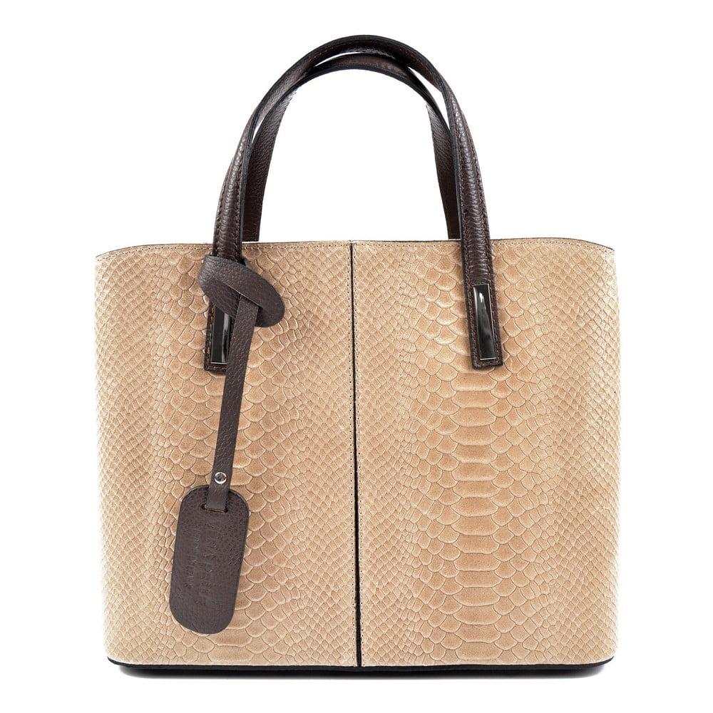 Béžová kožená kabelka Roberta M Elisa
