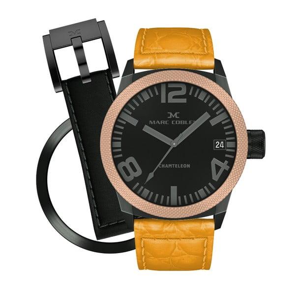 Unisex hodinky Marc Coblen s remienkom a krúžkom na ciferník naviac P120