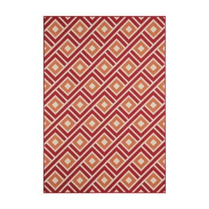 Červený vysokoodolný koberec Webtapetti Greca Red, 133×190cm