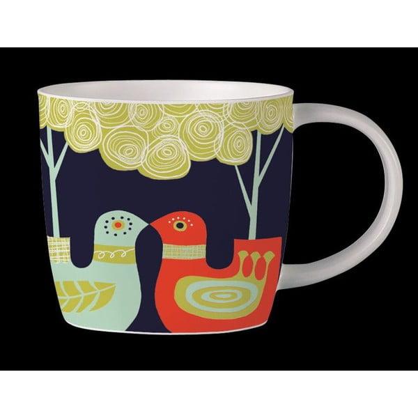 Hrnček z kostného porcelánu Folkland Love Birds