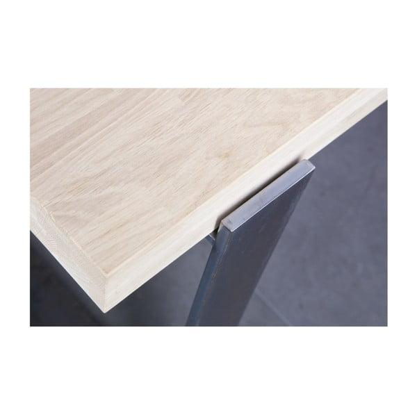 Jedálenský stôl s prírodnou doskou z dubového dreva De Eekhoorn Jamie, 90×200cm