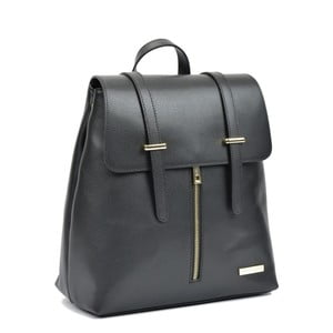Čierny kožený batoh Sofia Cardoni Backon