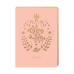 Linajkový zápisník Portico Designs Ryby, 124 stránok