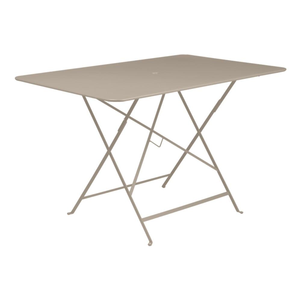 Béžový skladací záhradný stolík Fermob Bistro, 117 × 77 cm