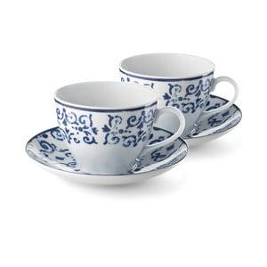 Sada 2 porcelánových šálok Antico Blue, 400 ml