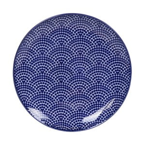 Modrý porcelánový tanier Tokyo Design Studio Dots, ø 16 cm