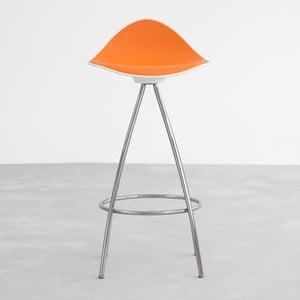 Oranžová stolička s chrómovanými nohami Stua Onda, 66 cm