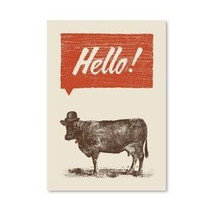 Plagát Hello od Florenta Bodart, 30x42 cm