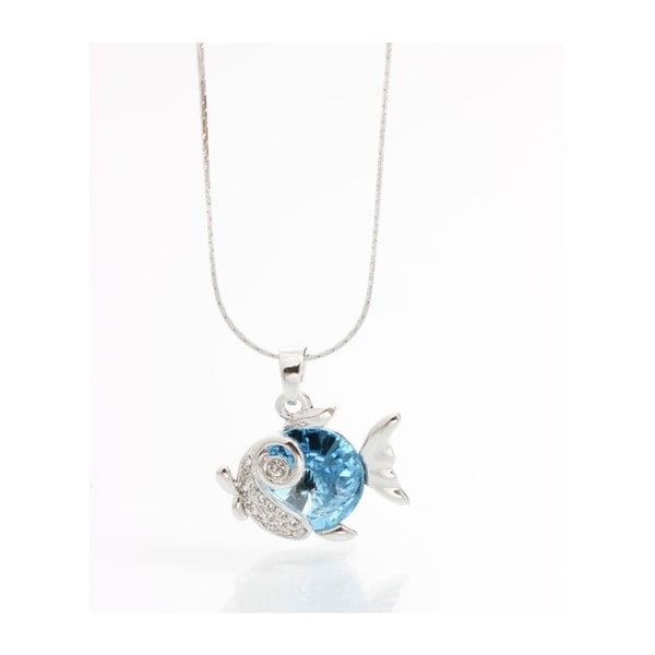 Náhrdelník so Swarovski Elements, modrá rybka