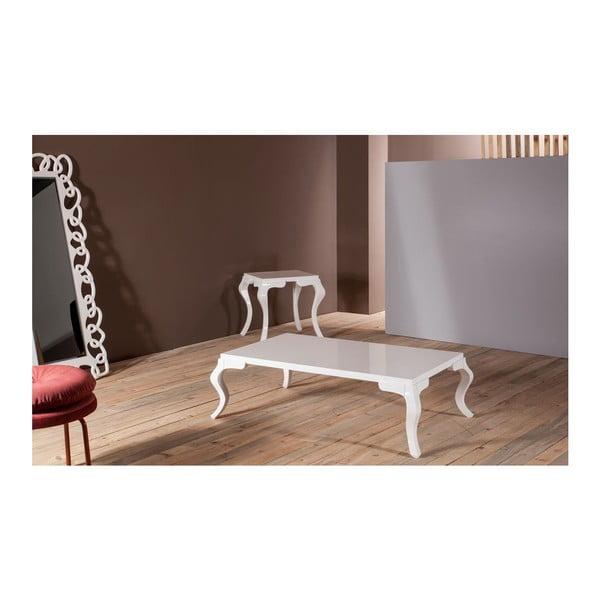 Konferenčný stolík Rustik White