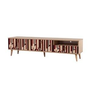 TV stôl Stella Piano Red, šírka 46 cm