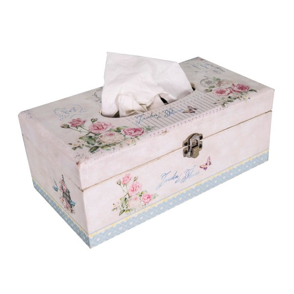 Box na vreckovky Antic Line Vitage Rose