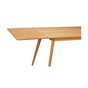 Prírodný predlžovací diel k jedálenskému stolu z dubového dreva Folke Yumi